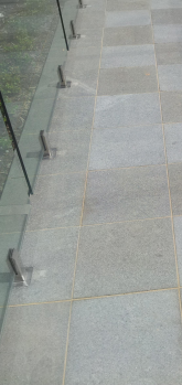 Wetlaid paving and pool fence